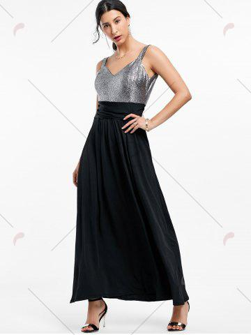 Chic Backless Long Prom Evening Dress - 2XL BLACK Mobile