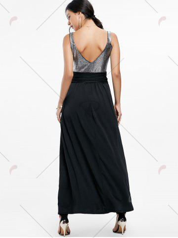 New Backless Long Prom Evening Dress - 2XL BLACK Mobile