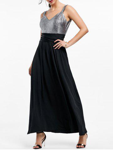 Outfit Backless Long Prom Evening Dress BLACK 2XL