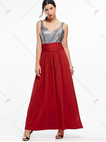 Unique Backless Long Prom Evening Dress - 2XL WINE RED Mobile