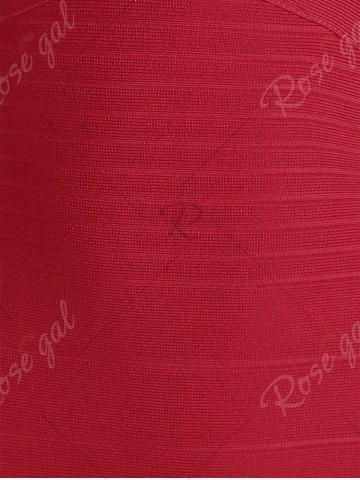 Buy Bandeau Bodycon Bandage Dress - S RED Mobile