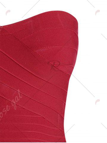 Store Bandeau Bodycon Bandage Dress - S RED Mobile