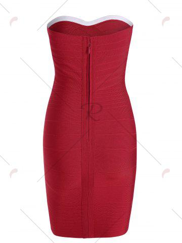 New Bandeau Bodycon Bandage Dress - S RED Mobile