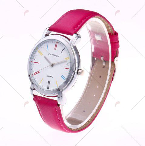 Trendy Faux Leather Band Round Analog Watch - TUTTI FRUTTI  Mobile
