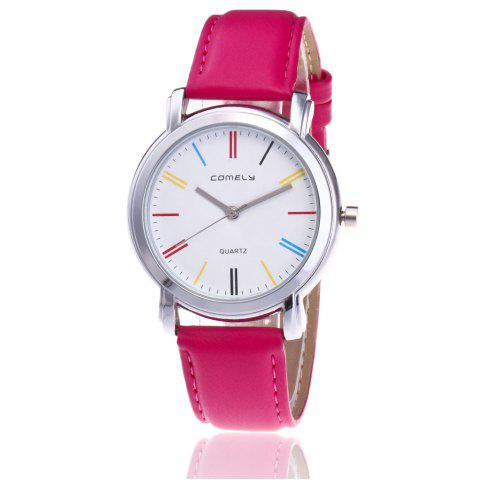 New Faux Leather Band Round Analog Watch - TUTTI FRUTTI  Mobile