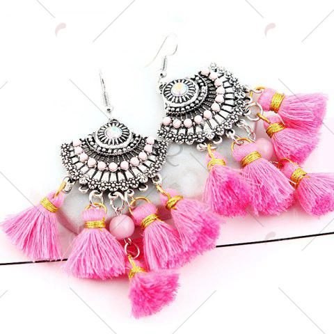 Shops Vintage Tassel Hook Chandelier Earrings - PINK  Mobile