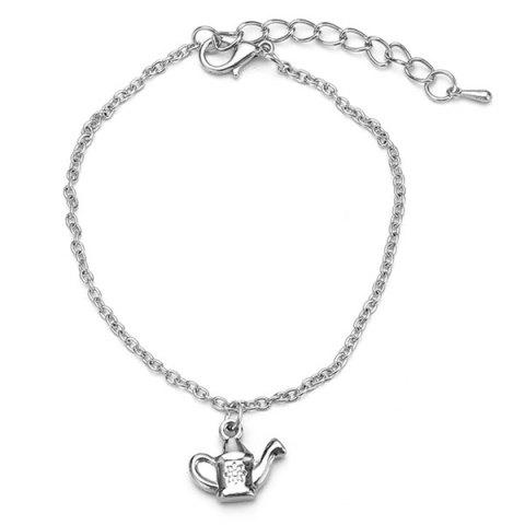 New Stainless Steel Charm Kettle Chain Bracelet - SILVER  Mobile