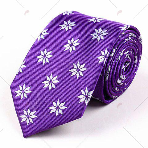 Outfits Geometric Flower Printed Polyester Neck Tie - PURPLE  Mobile