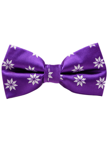 Store Polyester Geometrical Flower Pattern Bow Tie - PURPLE  Mobile