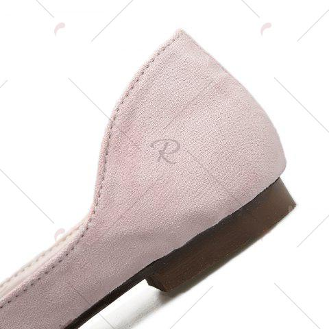 Unique Tassels Pointed Toe Flat Shoes - 39 LIGHT PINK Mobile