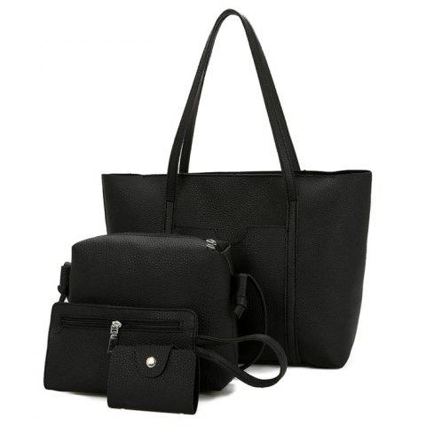 Ensemble de sac en bandoulière Faux Leather 4 Pieces Noir