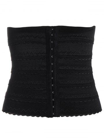 Stretchy Waist Training Corset - Black - 2xl