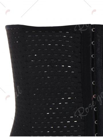 Hot Waist Trainer Underbust Openwork Corset - M BLACK Mobile