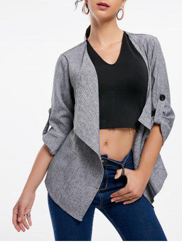 Store Open Front Draped Blazer