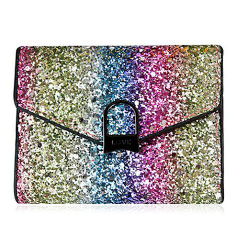 Fancy Sequins Multicolor Metal Small Wallet - COLORMIX  Mobile