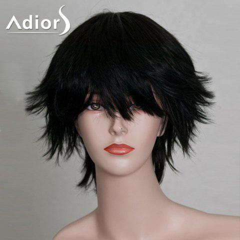 Cheap Short Side Bang Silky Anti-Alice Straight Synthetic Wig