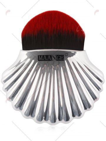 Discount Plated Shell Shape Fiber Hair Foundation Brush - RED WITH BLACK  Mobile