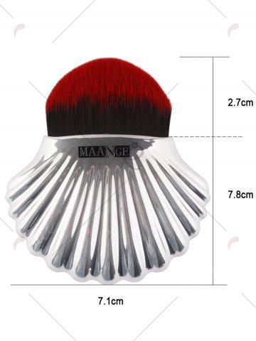 Buy Plated Shell Shape Fiber Hair Foundation Brush - RED WITH BLACK  Mobile