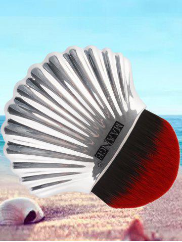 Sale Plated Shell Shape Fiber Hair Foundation Brush - RED WITH BLACK  Mobile
