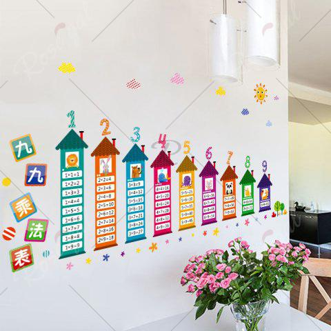 Best Multiplication Table Wall Art Sticker For Children Room - 60*90CM COLORMIX Mobile