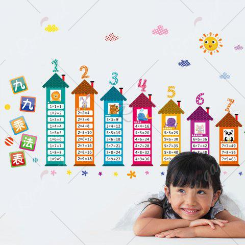 Shop Multiplication Table Wall Art Sticker For Children Room - 60*90CM COLORMIX Mobile