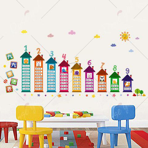 Hot Multiplication Table Wall Art Sticker For Children Room - 60*90CM COLORMIX Mobile
