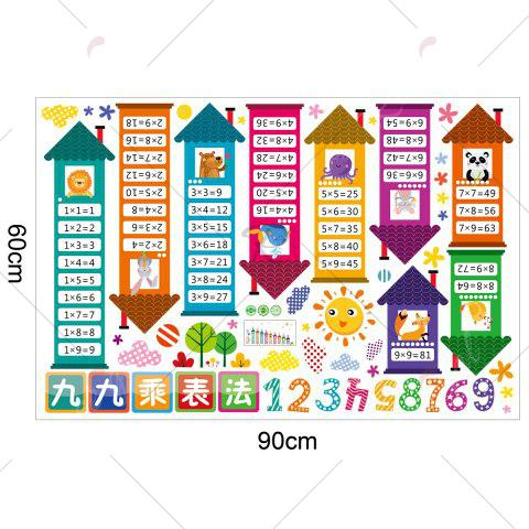 New Multiplication Table Wall Art Sticker For Children Room - 60*90CM COLORMIX Mobile