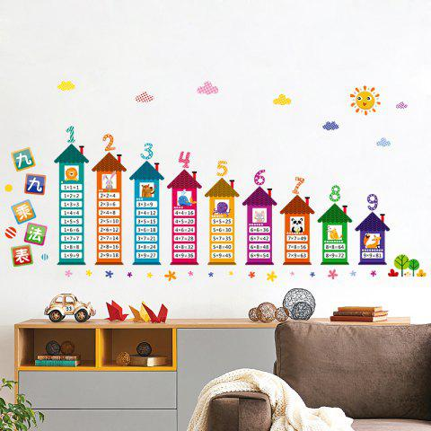 Trendy Multiplication Table Wall Art Sticker For Children Room - 60*90CM COLORMIX Mobile