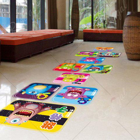 New Hopscotch Monsters Wall Art Sticker For Children Room - 60*90CM COLORMIX Mobile