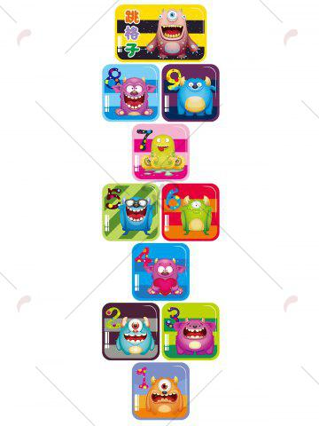Buy Hopscotch Monsters Wall Art Sticker For Children Room - 60*90CM COLORMIX Mobile