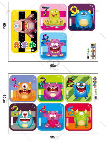 Hot Hopscotch Monsters Wall Art Sticker For Children Room - 60*90CM COLORMIX Mobile