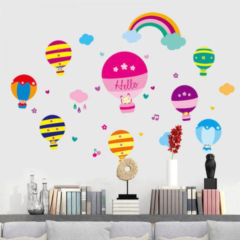 Hot Cartoon Hot Air Balloon Wall Art Stickers For Kids Room - 40*60CM COLORMIX Mobile
