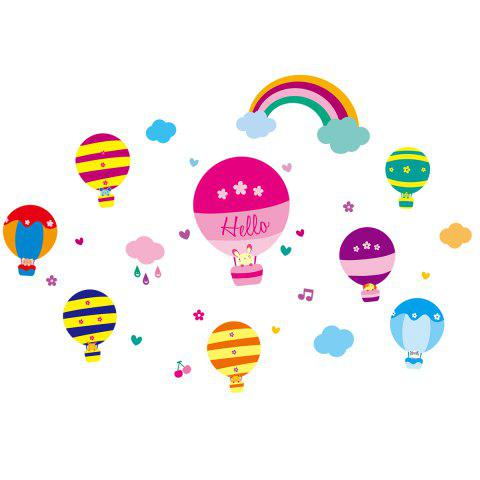 Fashion Cartoon Hot Air Balloon Wall Art Stickers For Kids Room - 40*60CM COLORMIX Mobile