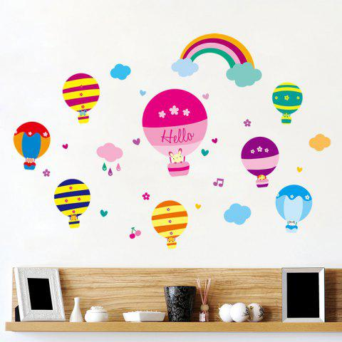 Buy Cartoon Hot Air Balloon Wall Art Stickers For Kids Room - 40*60CM COLORMIX Mobile