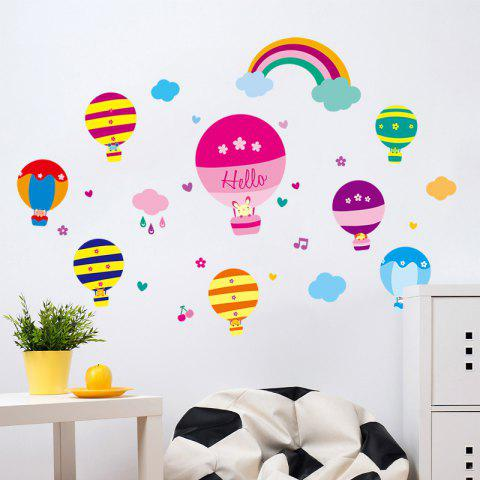 Store Cartoon Hot Air Balloon Wall Art Stickers For Kids Room - 40*60CM COLORMIX Mobile