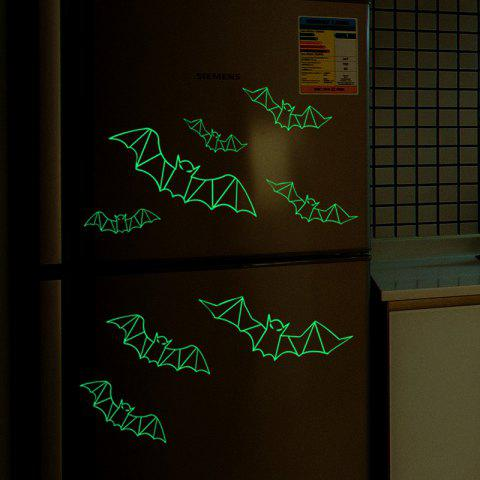 Outfits Glow In The Dark 3D Bats Halloween Wall Art Stickers - BLACK  Mobile