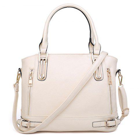 Shop Zippers Belt Buckles Tote Bag - OFF-WHITE  Mobile