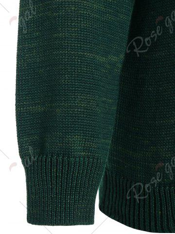 Online Pullover Knit Plus Size Graphic Sweater - 5XL DEEP GREEN Mobile