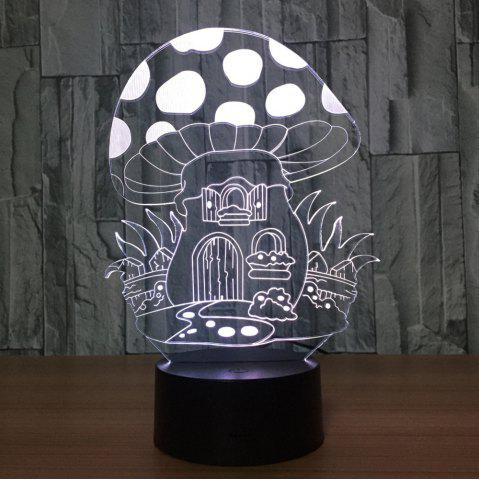 Outfit 7 Colors Change 3D Mushroom House Design Touch Night Light - TRANSPARENT  Mobile