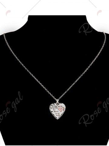 Fashion Heart Engraved Forever Claw Footprint Necklace - RED  Mobile