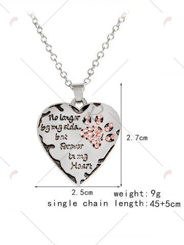 Cheap Heart Engraved Forever Claw Footprint Necklace - RED  Mobile