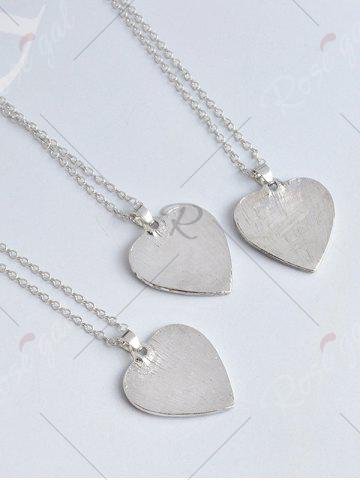 Affordable Heart Engraved Forever Claw Footprint Necklace - WHITE  Mobile