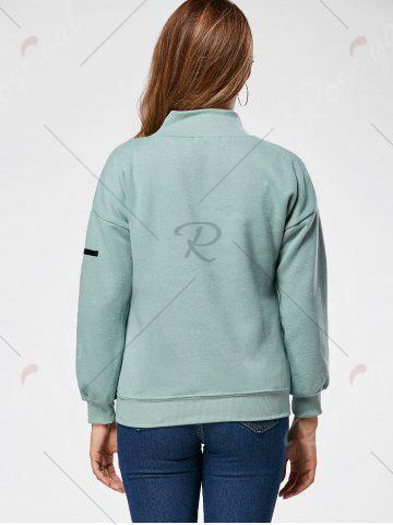 Unique Fleece High Neck Sweatshirt - ONE SIZE GREEN Mobile