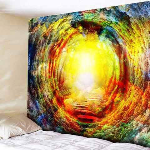 Wall Hanging Forest Tree Hole Tapestry - Yellow - W79 Inch * L59 Inch