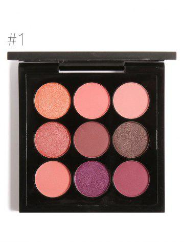 Latest 9 Colors Long Lasting Not Dizzy Waterproof Eyeshadow Kit - #01  Mobile