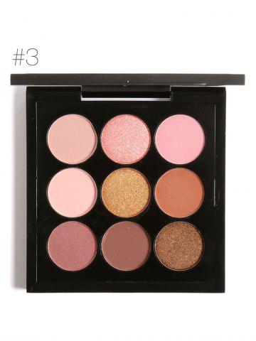 New 9 Colors Long Lasting Not Dizzy Waterproof Eyeshadow Kit - #03  Mobile