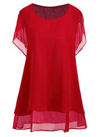 Shop Plus Size Beaded Chiffon Tunic Top