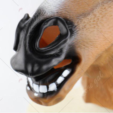 Chic Halloween Horse Head Mask - BROWN  Mobile