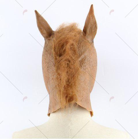Outfit Halloween Horse Head Mask - BROWN  Mobile