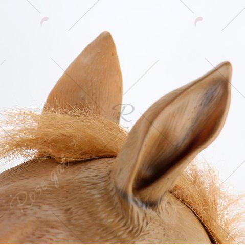 Discount Halloween Horse Head Mask - BROWN  Mobile